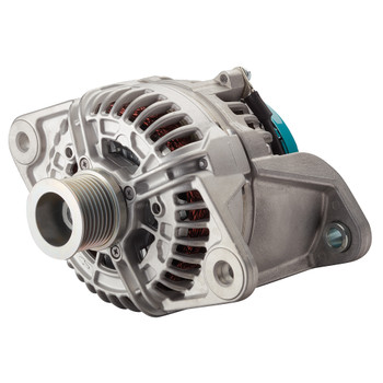 Mastervolt Alpha Compact Alternator - 28/110A Volvo Penta (with Pulley 8 Ribs - 48.1mm) - Side View