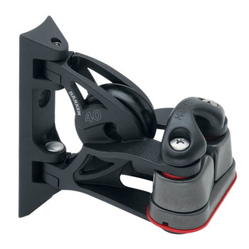 Harken Carbo Pivoting Lead Block Cleat with Cam Matic 2156 - 40mm