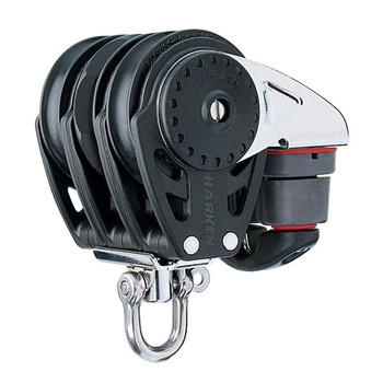 Harken Triple Ratchamatic Block with Swivel/Cam Cleat - 57mm