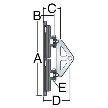 Harken System A CB Headboard Car Assembly 3811 - 22mm - Dimension View