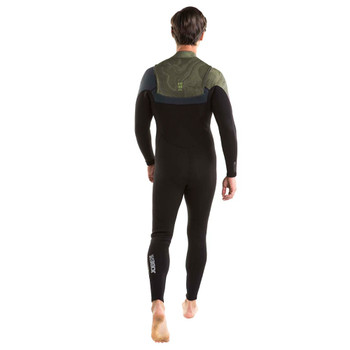 Jobe Perth Full Wetsuit Chestzip - Men - 3/2mm - Marble Green - Back View