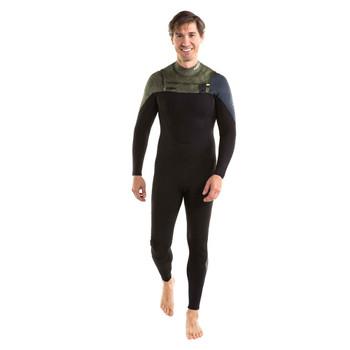 Jobe Perth Full Wetsuit Chestzip - Men - 3/2mm - Marble Green