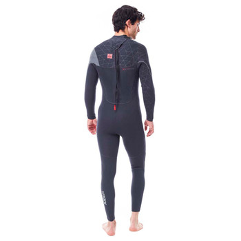 Jobe Yukon Full Wetsuit - Men - 4/3mm - Dark Grey - Back View