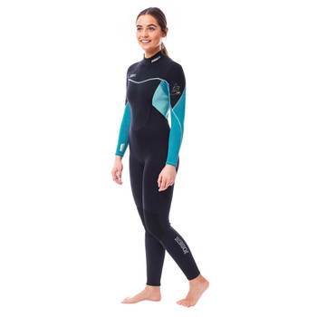 Jobe Sofia Full Wetsuit - Women - 3/2mm - Blue - Side View