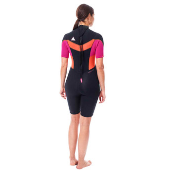 Jobe Sofia Shorty Wetsuit - Women - 3/2mm - Pink - Back View