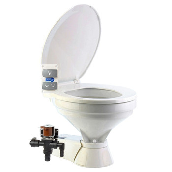 Jabsco Quiet Flush Electric Toilet - Fresh Water - Compact - 12V (25A)