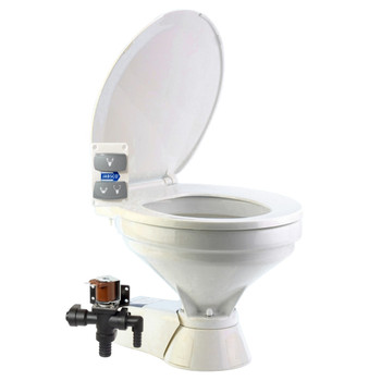 Jabsco Quiet Flush Electric Toilet - Fresh Water - Compact - 24V (15A)