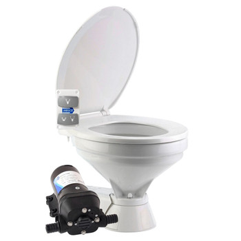 Jabsco Quiet Flush Electric Toilet - Salt Water - Compact - 12V (25A)