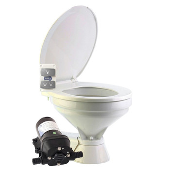 Jabsco Quiet Flush Electric Toilet - Salt Water - Regular - 24V (15A)