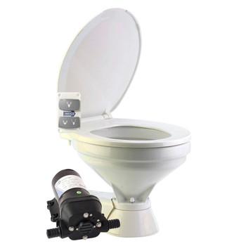 Jabsco Quiet Flush Electric Toilet - Salt Water - Regular - 24V (15A)