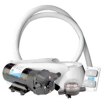 Jabsco Quiet Flush Electric Kit - Salt Water - 12V (25A)