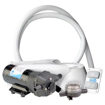 Jabsco Quiet Flush Electric Kit - Salt Water - 24V (15A)