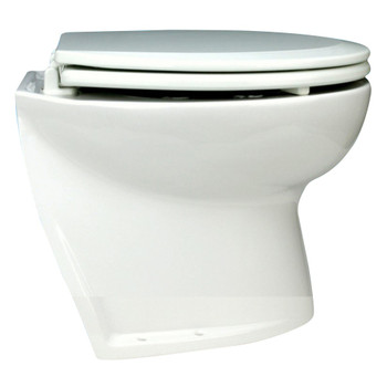 "Jabsco 14"" Slant Back Electric Toilet Bowl with Solenoid Valve - 24V (15A)"