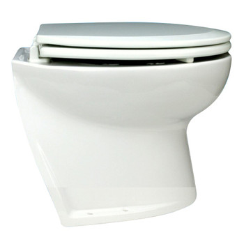 "Jabsco 14"" Slant Back Electric Toilet Bowl with Intake Pump - 24V (15A)"