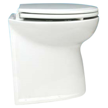 """Jabsco 17"""" Straight Back Electric Toilet Bowl with Solenoid Valve - 12V (25A)"""