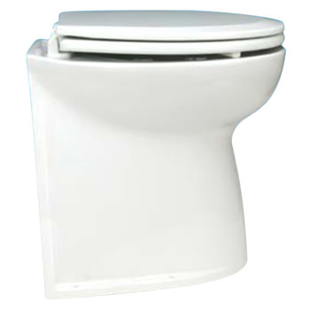 """Jabsco 17"""" Straight Back Electric Toilet Bowl with Intake Pump - 12V (25A)"""