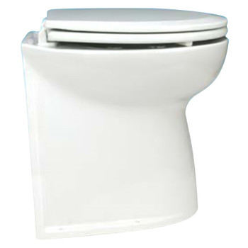 """Jabsco 17"""" Straight Back Electric Toilet Bowl with Intake Pump - 24V (15A)"""