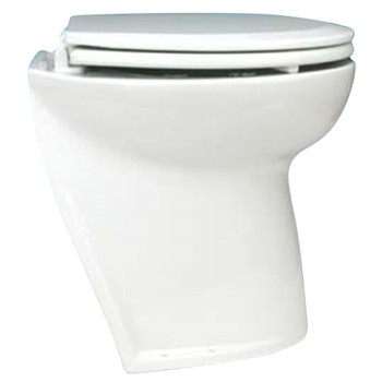"Jabsco 17"" Slant Back Electric Toilet Bowl with Solenoid Valve - 12V (25A)"