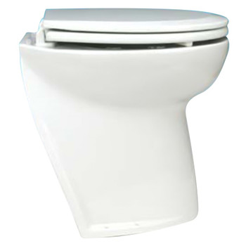 "Jabsco 17"" Slant Back Electric Toilet Bowl with Intake Pump - 12V (25A)"