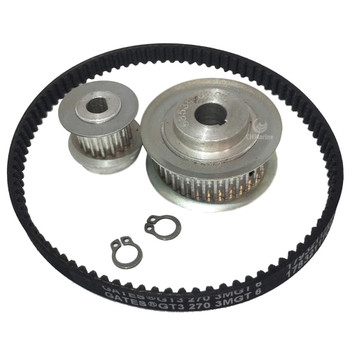 Jabsco Lite Flush Toilet Gear Pulley and Belt Kit
