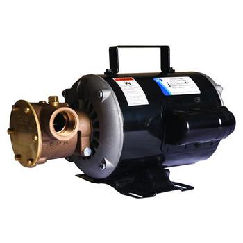 Jabsco 6050 Series Bronze Motor Utility Pump - Nitrile Impeller - 115 V