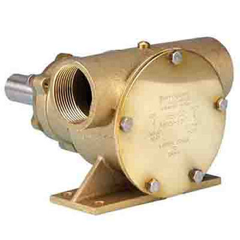 Jabsco 52200 Flexible Impeller Bronze Pedestal Pump - Neoprene Impeller