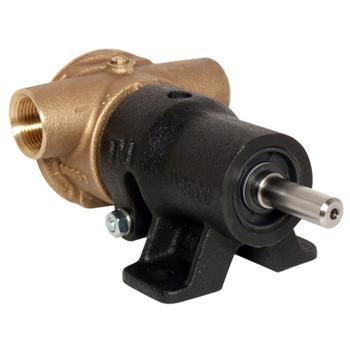 Jabsco 10550 Flexible Impeller Bronze Pedestal Pump - Neoprene Impeller - Back View