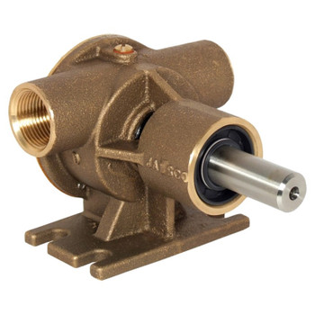 Jabsco 52040 Flexible Impeller Bronze Pedestal Pump - Neoprene Impeller - Back View