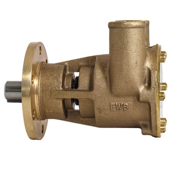 Jabsco Flexible Impeller Bronze Pump - 80 - 32mm Hose - Side View