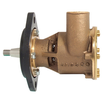 Jabsco Flexible Impeller Bronze Pump - 80 - 32mm Hose - Flange - Side View