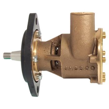 Jabsco Flexible Impeller Bronze Pump - 80 - 32mm Hose - Flange - Side View