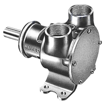 "Jabsco Flexible Impeller Pedestal Bronze Pump - 200 - 1.25"" NPT"