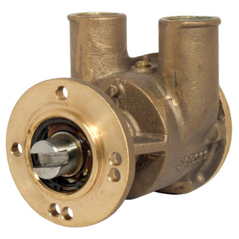 Jabsco Flexible Impeller Bronze Pump - 32mm Hose - Side View