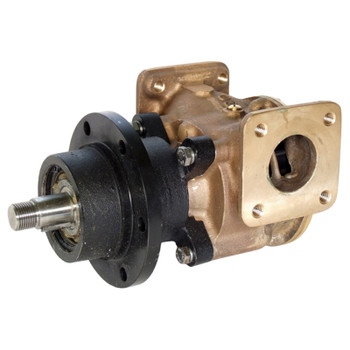 Jabsco Flexible Impeller Bronze Pump - 200 - 38mm Flanged - Side View