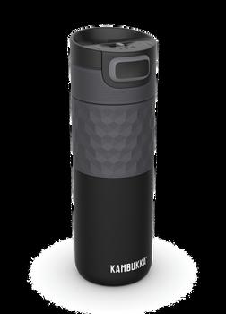 Kambukka ETNA Grip Thermal Mug 500ml with 3-in-1 Snapclean Lid - Black Steel