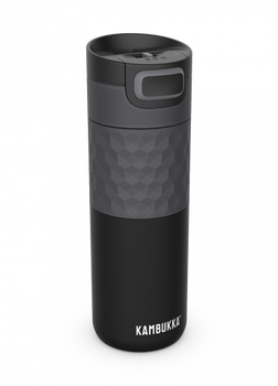 Kambukka ETNA Grip Thermal Mug 500ml with 3-in-1 Snapclean Lid - Black Steel