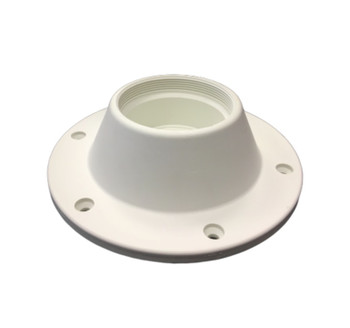 Nuova Rade Deck-Mount Bottom Plate for Table White