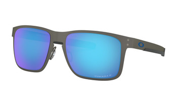 Oakley Holbrook Metal Sunglasses - Matte Gunmetal / Prizm Sapphire Polarised Angled