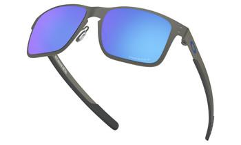 Oakley Holbrook Metal Sunglasses - Matte Gunmetal / Prizm Sapphire Polarised Lower Angle