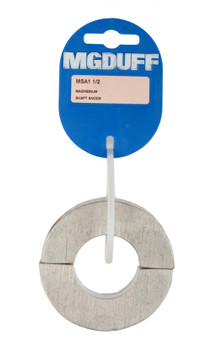 "MGDuff Magnesium Shaft Collar Anodes 1 1/2"""