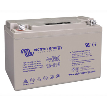 Victron Energy AGM Deep Cycle Battery - 12V (110Ah) - Side View
