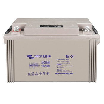 Victron Energy AGM Deep Cycle Battery - 12V (130Ah) - Front View