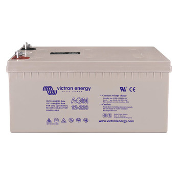 Victron Energy AGM Deep Cycle Battery - 12V (220Ah) - Front View
