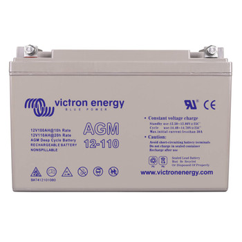 Victron Energy AGM Deep Cycle Battery with Threaded Insert Terminals - 12V/110Ah (M8)