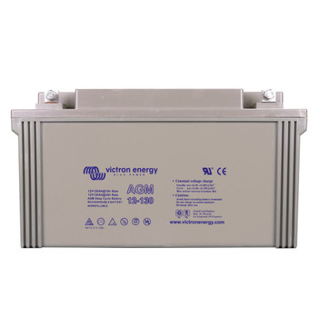 Victron Energy AGM Deep Cycle Battery with Threaded Insert Terminals - 12V/130Ah (M8)