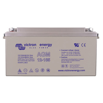 Victron Energy AGM Deep Cycle Battery with Threaded Insert Terminals - 12V/165Ah (M8)