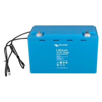 Victron Energy LiFePO4 Lithium Battery Smart -  12.8V/100Ah - Front View