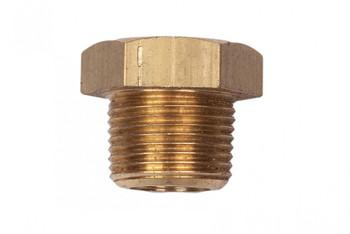 "MG Duff Threaded Brass Plug PP500B - 1/2"" NPT Thread"