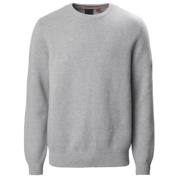 Musto Milano Crew Neck Knit Front View Grey