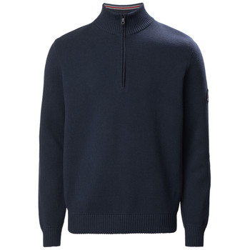 Musto Milano 1/2 Zip Neck Knit True Navy Front View